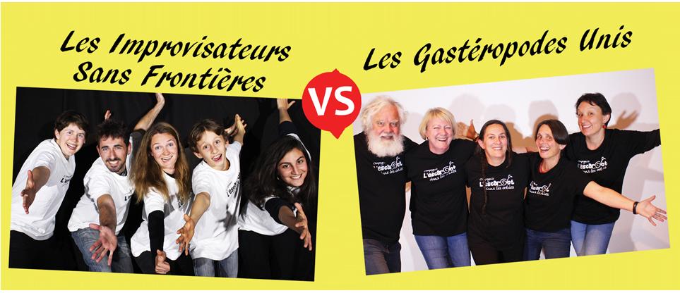 Match d'impro L'Ortie Show 2019 - Les improvisateurs sans frontières VS Les gastéropodes unis